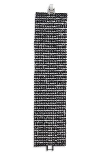 CRISTABELLE | Women's Cristabelle Crystal Multirow Bracelet | Goxip