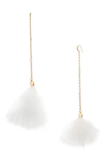 Women's Ettika 18K Gold Plated Chain Pom Shoulder Duster Earrings