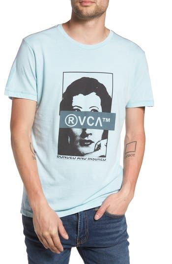 Rvca Split Frames Graphic T-Shirt, Grey