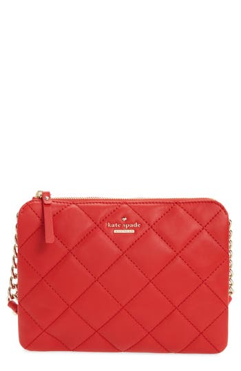 Kate Spade New York Emerson Place Harbor Leather Crossbody Bag - Pink