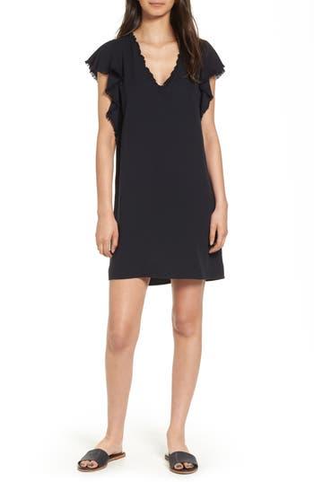 Women's Splendid Ruffle Shift Dress, Size X-Small - Black