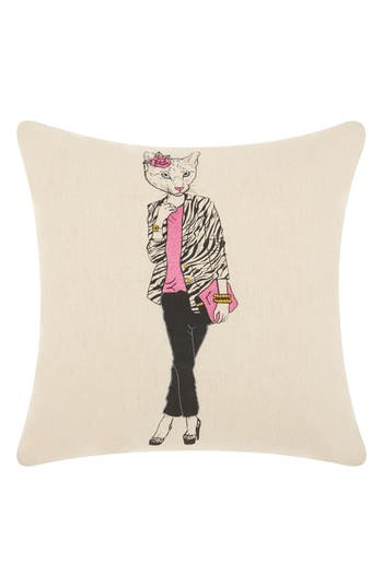 Mina Victory Classy Kitty Accent Pillow, Size One Size - Beige