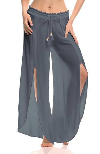 Isabella Rose What A Catch Cover-Up Pants, Grey