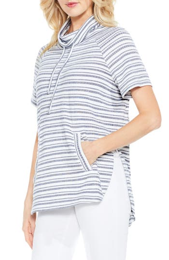 Two By Vince Camuto Variegated Stripe Pullover, Blue