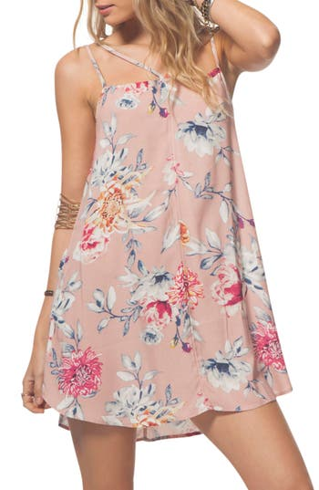 Rip Curl Wildflower Floral Strappy Slipdress, Pink