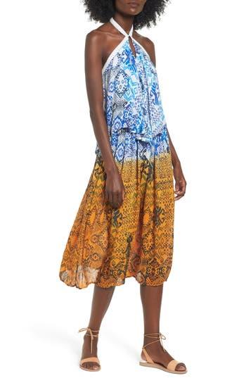 Raga Until Sunrise Halter Popover Dress, Blue