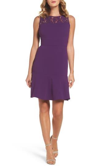 Taylor Dresses Lace Flounce Dress, Purple
