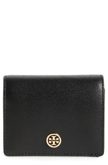 Tory Burch Parker Foldable Mini Leather Wallet - Black
