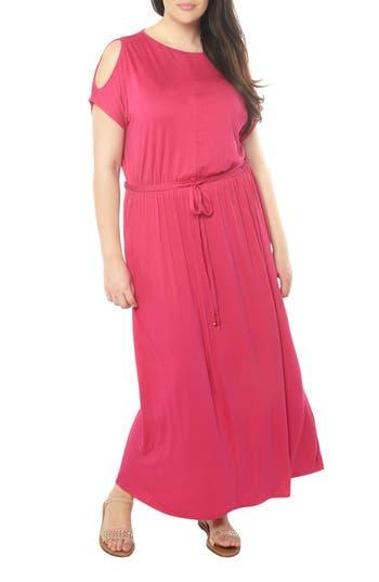 Plus Size Dorothy Perkins Cold Shoulder Jersey Maxi Dress, US / 18 UK - Pink