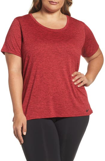 Plus Size Nike Dry Legend Training Tee, Red