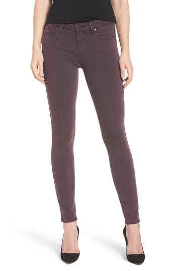 Paige Transcend - Verdugo Ankle Skinny Jeans, Red