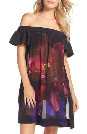 Ted Baker London Immay Impressionist Cover-Up Dress, Black