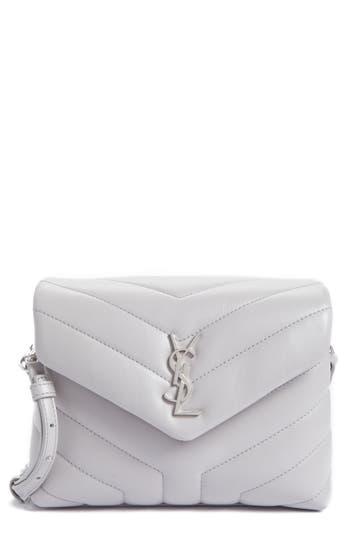 Saint Laurent Toy Loulou Calfskin Leather Crossbody Bag - Grey