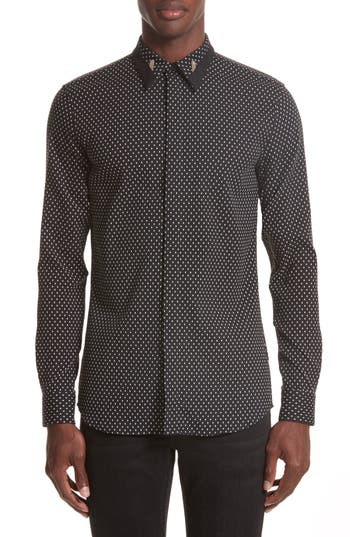 Men's Givenchy Jacquard Collar Stay Shirt