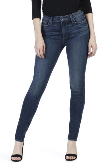 Paige Transcend - Hoxton High Waist Ultra Skinny Jeans, Blue