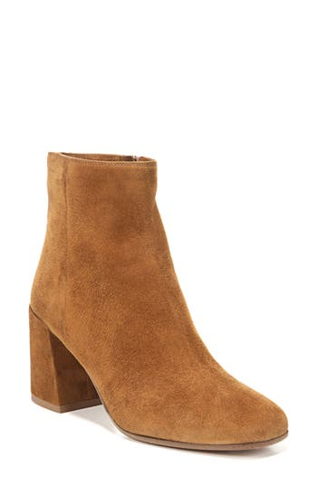 Vince Highbury Flare Heel Bootie, Brown