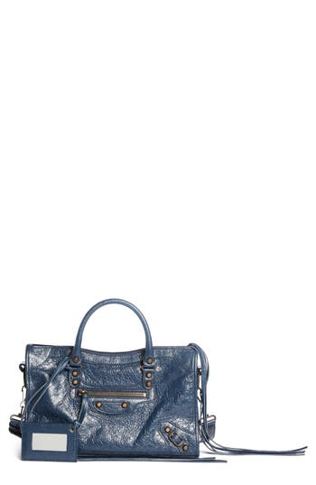 Balenciaga Small Classic City Leather Tote - Blue at NORDSTROM.com