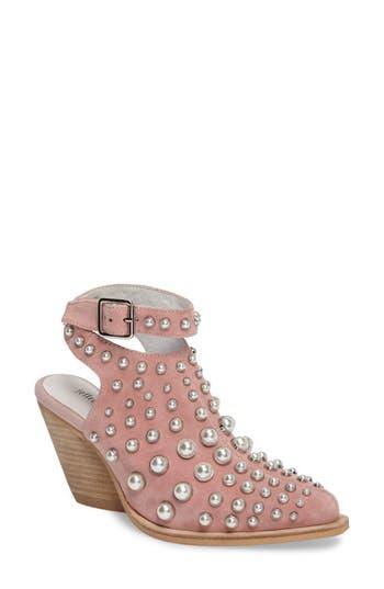 Jeffrey Larkin Embellished Bootie- Pink
