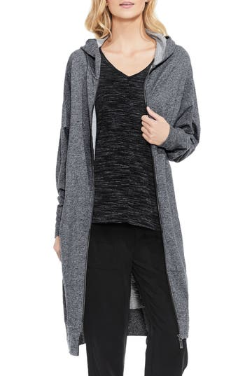 Two By Vince Camuto Long Hoodie, Grey