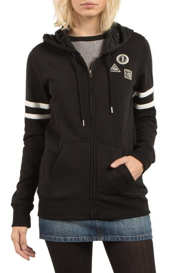 Volcom Past Is Past Zip Hoodie, Black