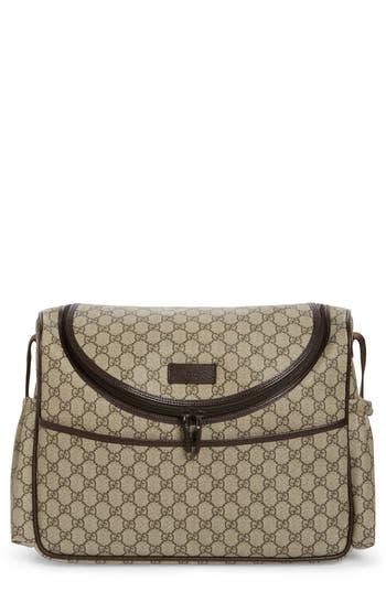 Infant Gucci Double G Logo Diaper Bag