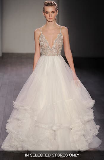 Hayley Paige Georgie Embellished Bodice Tulle Ballgown