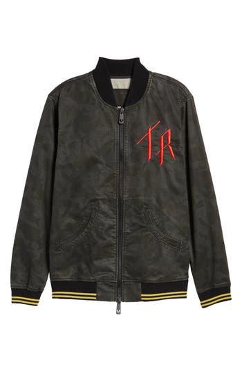True Religion Brand Jeans Denim Bomber Jacket, Green