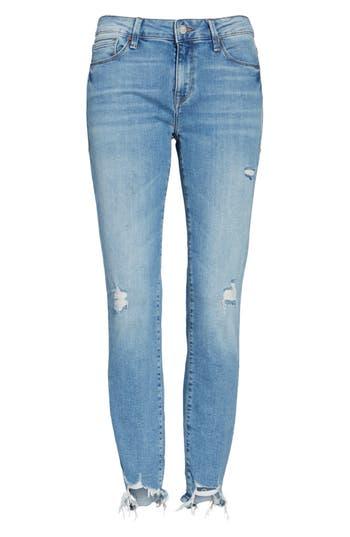 Mavi Jeans Adriana Ripped Skinny Crop Jeans, Blue