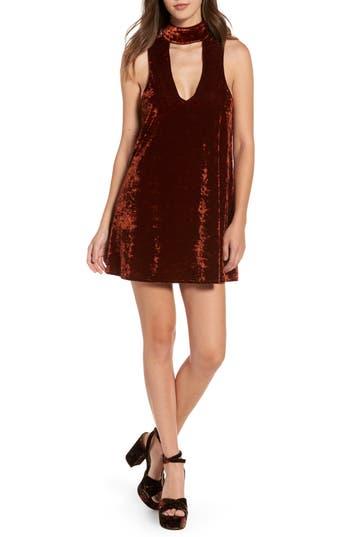 Show Me Your Mumu Friday Choker Velvet Dress, Brown