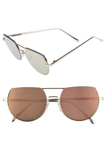 Women's Bp. 55Mm Flat Top Round Sunglasses -