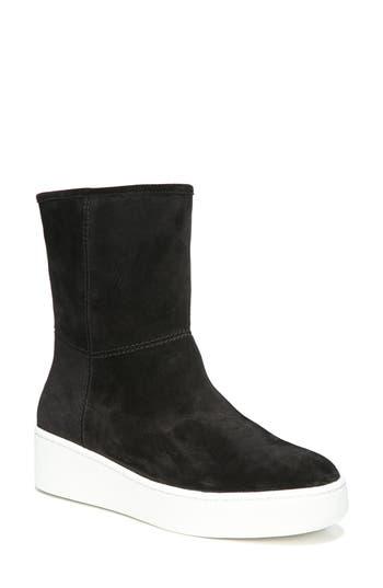 Via Spiga Elona Genuine Shearling Lined Sneaker Boot, Black