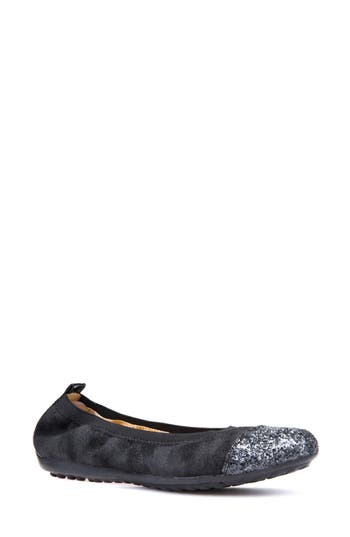 Geox Piuma Cap Toe Ballet Flat, Grey