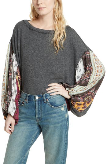 Free People Blossom Thermal Top, Black
