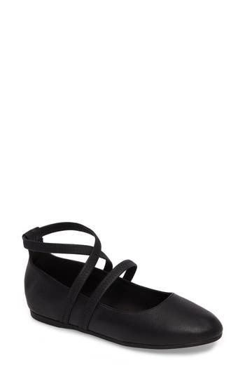 Eileen Fisher Joe Strappy Ballet Flat, Black