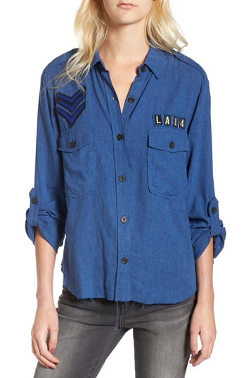 Women's Rails Banks Military Patch Shirt