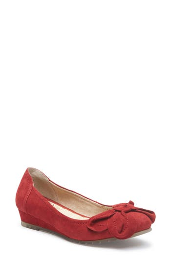 Me Too Martina Bow Ballet Wedge, Red