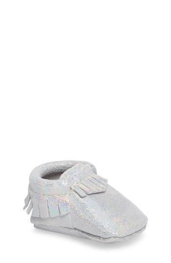Infant Girl's Freshly Picked Hologram Moccasin Crib Shoe
