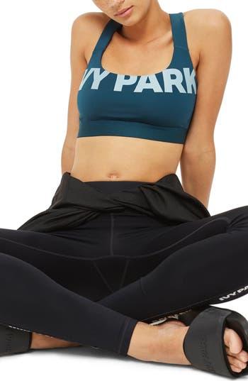 Ivy Park Logo Mesh Sports Bra, Blue/green