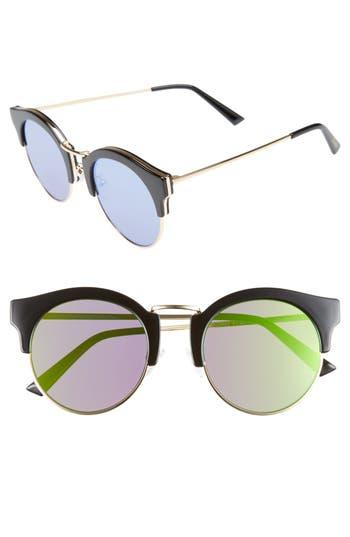 Women's Bonnie Clyde Broadway 51Mm Retro Sunglasses - Money Green
