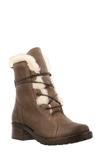 Taos Furkle Boot With Faux Fur Trim Beige