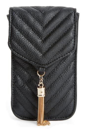 Amici Accessories Quilted Faux Leather Phone Crossbody Bag -