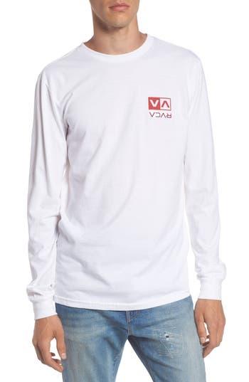 Rvca Flipped Box Graphic T-Shirt, Blue