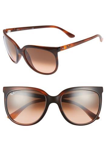 Ray-Ban Retro Cat Eye Sunglasses - Striped Havana