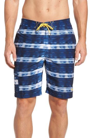 Tommy Bahama Baja Beach Break Board Shorts, Blue