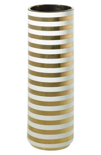 Accent Decor Spade Ceramic Vase, Size One Size - Metallic