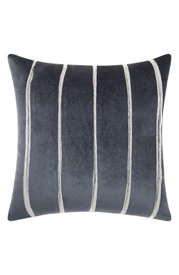 Mina Victory Stripe Velvet Accent Pillow, Size One Size - Blue
