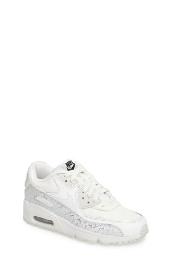 Girl's Nike Air Max 90 Leather Sneaker