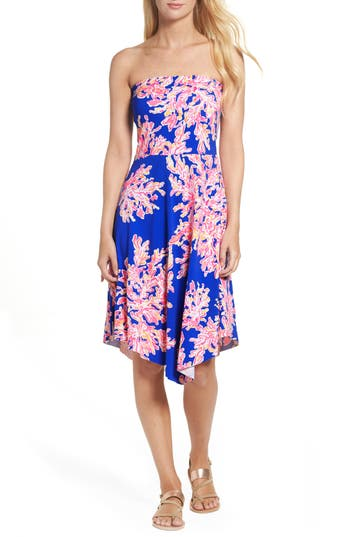 Lilly Pulitzer Loleta Fit & Flare Dress, Blue