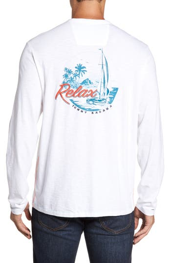 Big & Tall Tommy Bahama Relax At Sea Lux T-Shirt, White