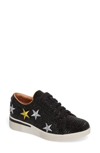 Gentle Souls Haddie Star Platform Sneaker- Black